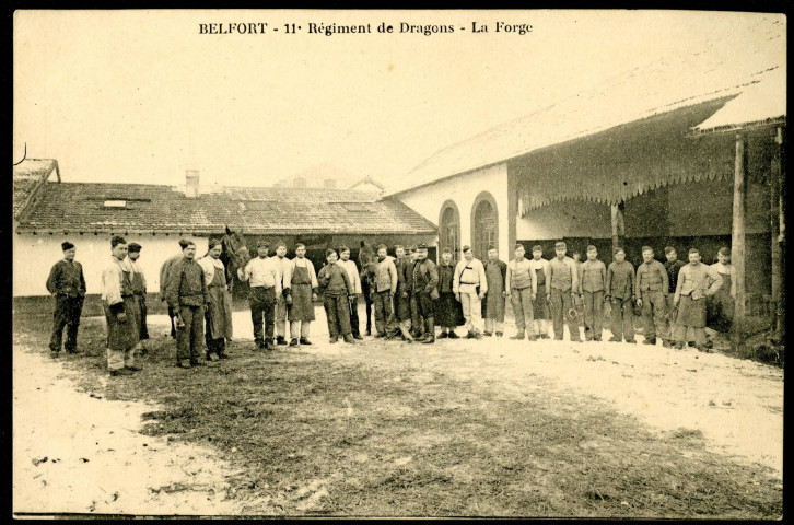 Belfort, 11e Régiment de Dragons, la forge.