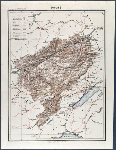 Doubs, carte du département.